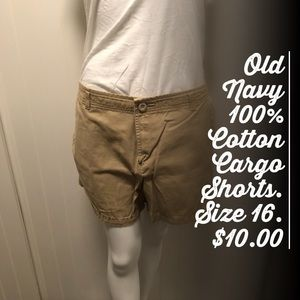 Old Navy Khaki Cargo Shorts